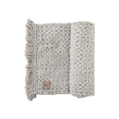 BEDA linen waffle towel, natural linen