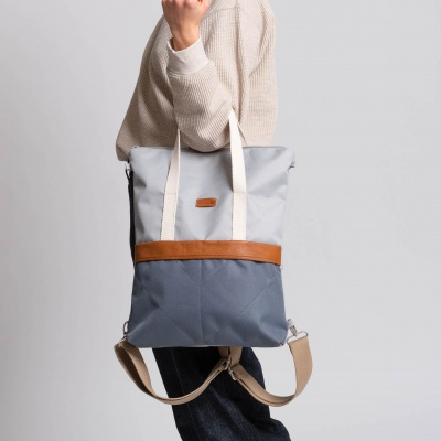 GRETA 3-in-1 Bagpack Lightgrey Grey
