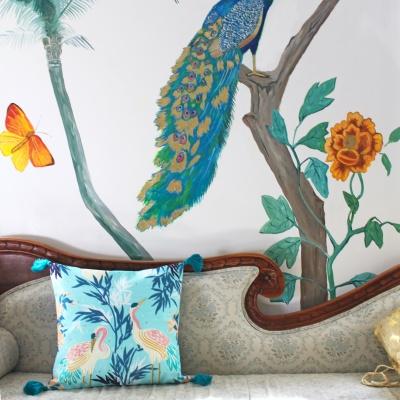Luxe Crane Cushion