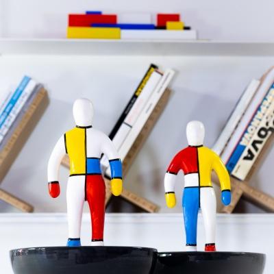 The Mondrian Ceramics, handmade and handpainted.