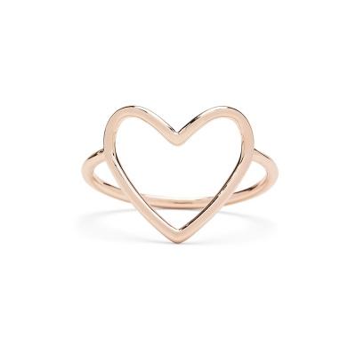 Big Heart Rose Gold Ring