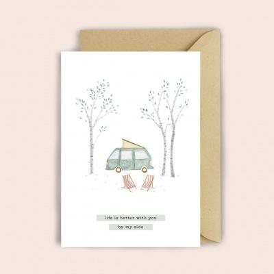 """""""Camping"""" Greeting Card"""