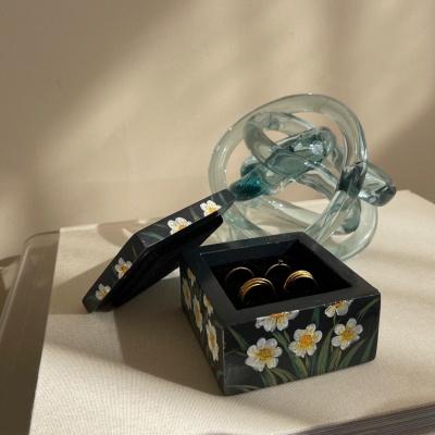 Hand painted jewelry storage box